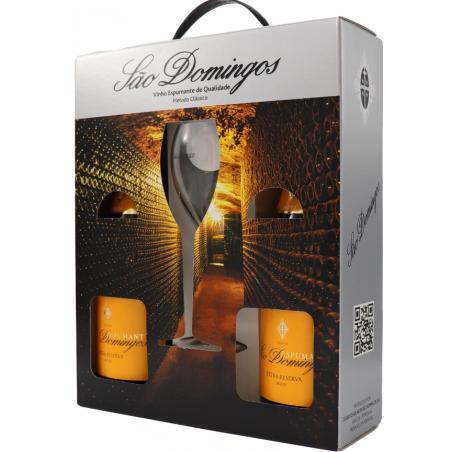 São Domingos Extra Reserva Bruto Giftpack 2 Flaschen