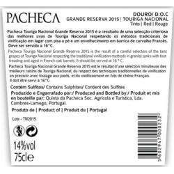 Quinta Da Pacheca Grande Reserva  DOC Touriga Nacional