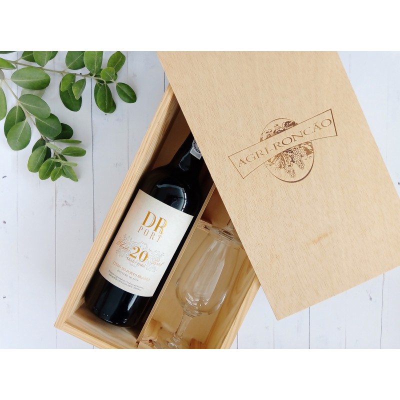 DR 20 Years Old White Port Giftpack